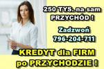 kredyt FIRMOWY 250 TYS. NA PODSTAWIE PRZYCHODU! Cała Polska!